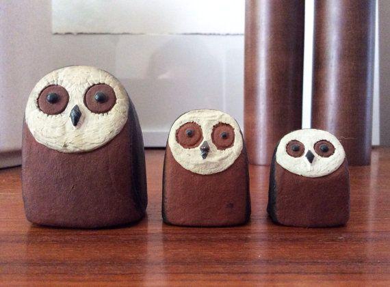 RARE Owl family by Thyssen Keramik Danmark Danish Modernist Cute Denmark