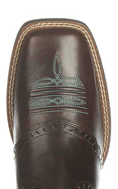 Ariat Women's Round Up Remuda Dark Brown Western Square Toe Boots   Cavender's