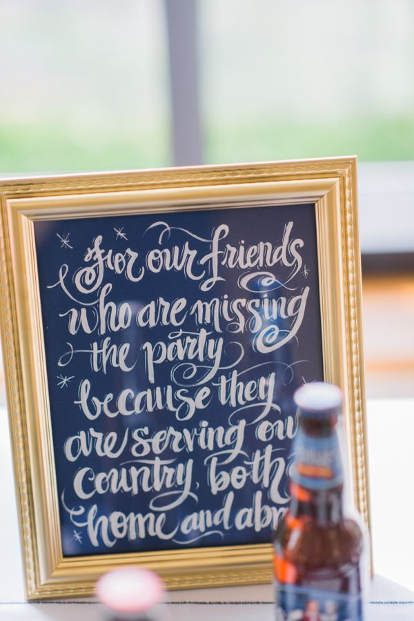 An homage to those serving our country: http://www.stylemepretty.com/maryland-weddings/annapolis/2015/08/17/elegant-naval-academy-wedding-in-annapolis/ | Photography: Joy Michelle - http://joymichellephotography.com/