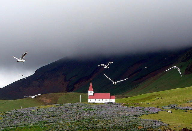 Icelandic Country Church at Vik