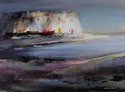 British Artist Colin KENT - Waterside Dwellings