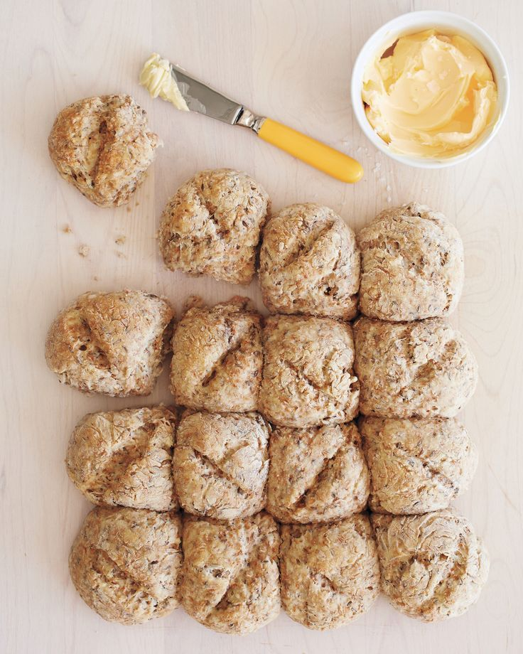 Irish Soda Bread St. Patrick's Day Recipes | Martha Stewart Living - This traditional bread, studded with caraway seeds and raisins, makes a delicious St. Patrick's Day breakfast or a fine accompaniment to dinner. Our preportioned version makes sharing easy.