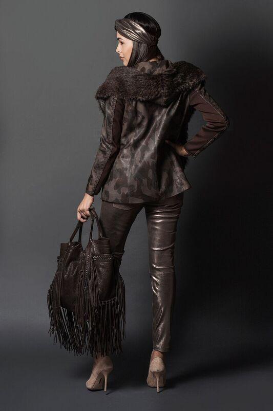chamarra de piel, pantalon de piel y bolsa de piel/leather jacket,leather pant and leather handbag for women