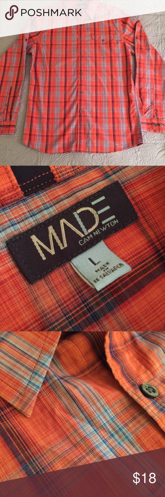 Cam Newton casual shirt MADE Cam Newton long sleeve shirt. NWOT MADE Cam Newton Shirts Casual Button Down Shirts