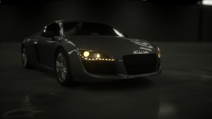 My first steps with Octane in Cinema 4D. Audi R8 3D rendering