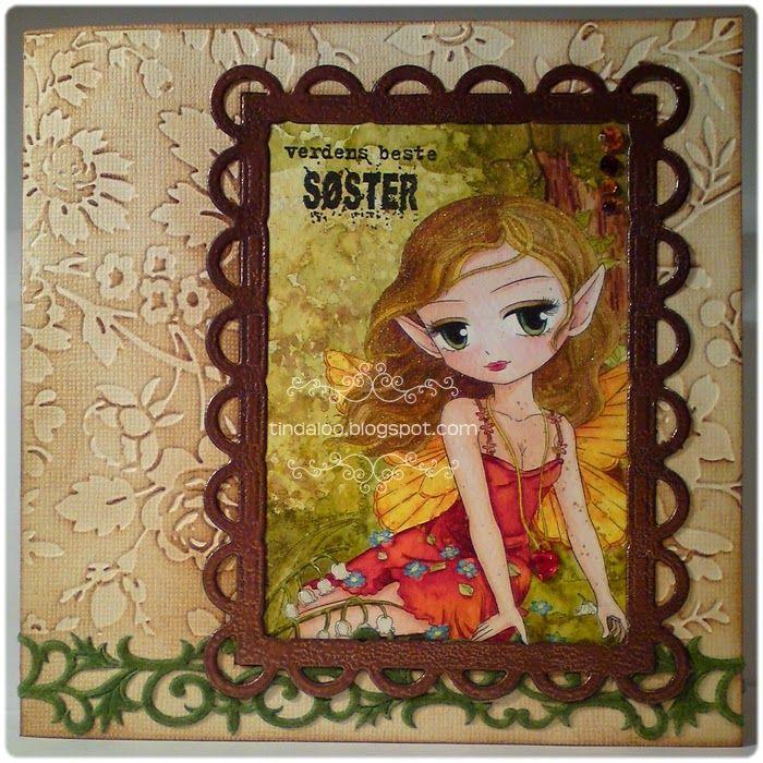 Fairy Shaylee Card Main motive: ArtByMiran 'Fairy Shaylee' digistamp. Info: http://tindaloo.blogspot.no/2014/09/fairy-shaylee-card.html