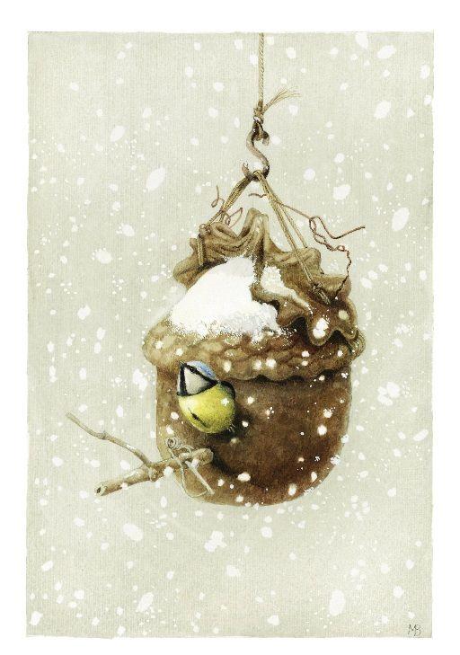 ❄Hiver❄ - Illustration de Marjolein Bastin, artiste néerlandaise.