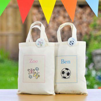 Personalised Children's Mini Tote Bag & Badge