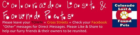 Updated list of Lost & Found Pet Resources throughout Colorado http://www.poochandclaws.com/lost-found-cats-dogs-in-colorado/