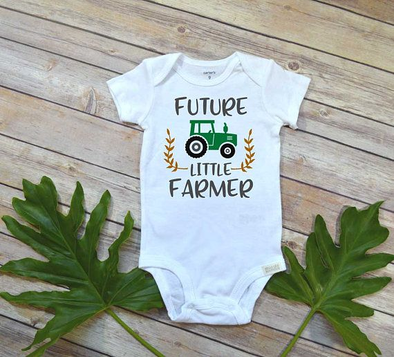 Pregnancy Announcement, Future Little Farmer, Baby Shower Gift, Country Baby shirt, Baby Reveal, Pregnancy Reveal, Baby Announcement, Farm baby gift