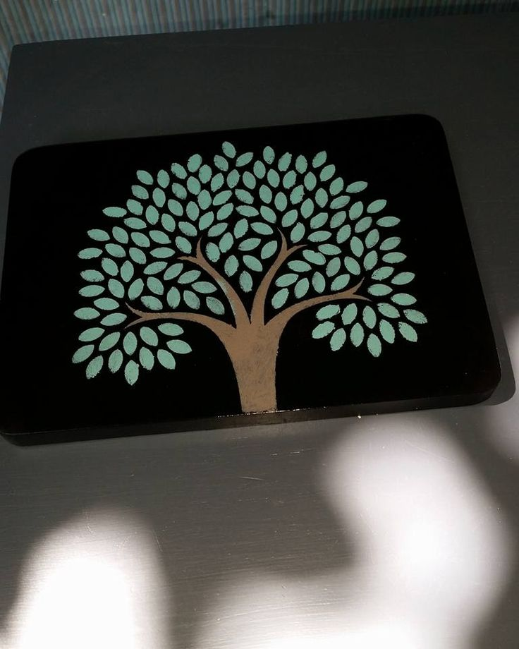 Aweome little chopping board with Tree of Life stencil - food grade - great christmas present $15