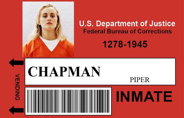 Orange is the New Black Halloween Costumes - Piper Chapman and Pornstache