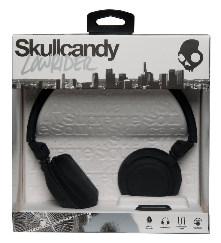SKULLCANDY LOWRIDER HEADPHONES BLACK. Skullcandy's new Lowrider features improved sound, improved comfort, soft touch finishes and overall a much sturdier design. The Lowrider is sturdy enough to deal your beats and withstand opposing jerks, drops and hustle without breaking. | eBay!
