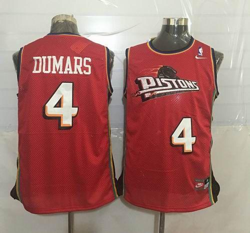 Detroit Pistons #4 Joe Dumars Throwback red jerseys