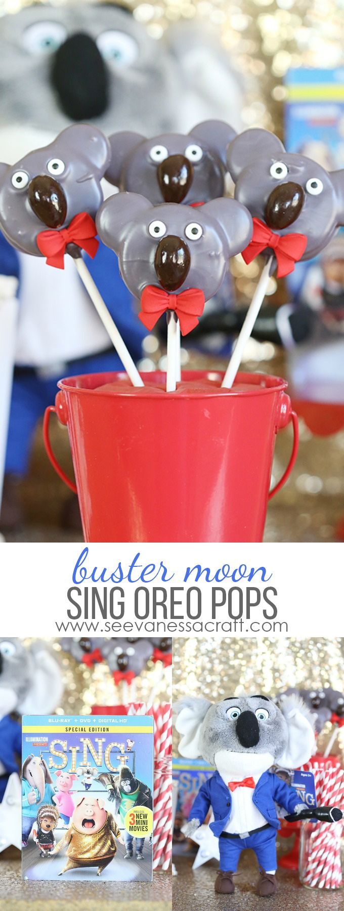 Buster Moon Oreo Pops inspired by @SingMovie, now on Blu-ray & DVD - perfect for a movie night party! #SingMovie #SingSquad #ad