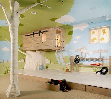 Hoe kan ik een oceaan thema slaapkamer te maken voor kinderen. Alles moet beginnen met de muren.