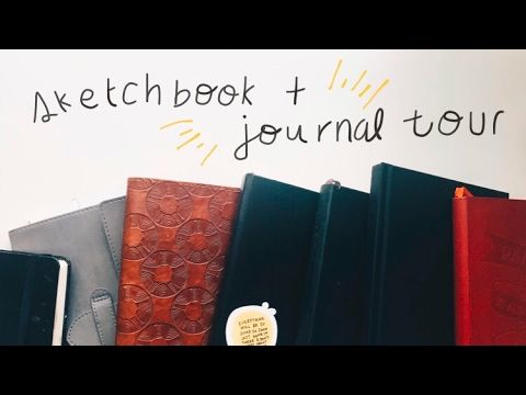 Sketchbook + Journal Tour 2017   Abby Cole - YouTube