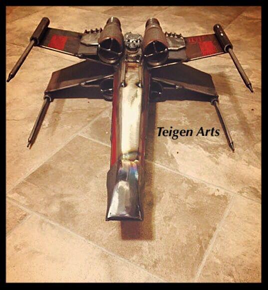 Metal art of the T65 X-Wing Fighter from Star Wars by Teigen Arts