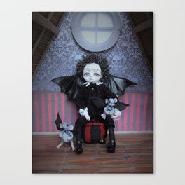 Vincent Vespertillo, the little vampire boy Canvas Print
