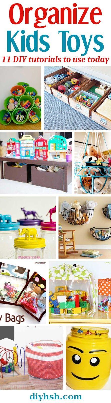 Organize Kids Toys. 11 DIY Tutorials. #Family #Organize #Storage #KidsRoom