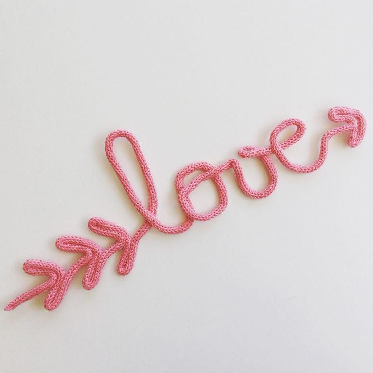 Love en laine - Love en tricotin : Décorations murales par mumzl