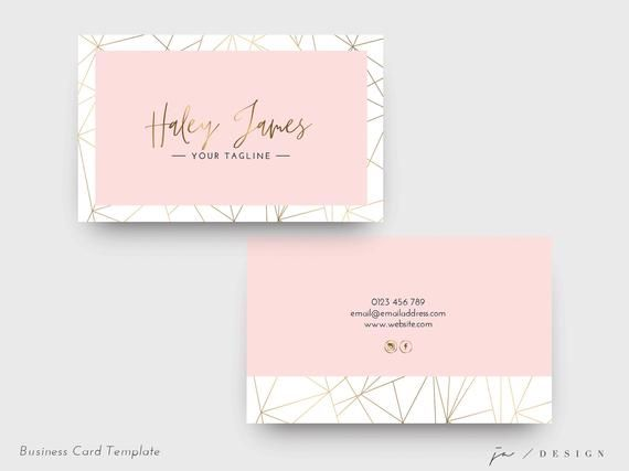 Business Card Design Feminine Template Double Sided Small Etsy Business Card Design Wedding Planner Business Card Card Design