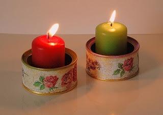 Las 25 mejores ideas sobre porta velas en pinterest y m s for Decoracion navidena artesanal