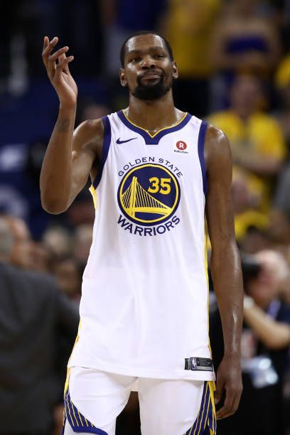 c6e897c73 Kevin Durant of the Golden State Warriors reacts against the Cleveland  Cavaliers in Game 1 of the 2018 NBA Finals at ORACLE Arena on May 31 2018 in .