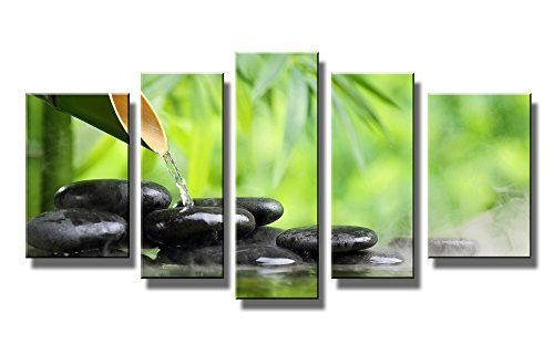 Youkuart-kx5014,5 Panel Wall Art Green Spa Still Life with Bamboo Fountain and Zen Stone in Water Painting the Picture Print on Canvas Botanical Pictures for Home Decor Decoration Gift Piece (Stretched By Wooden Frame,ready to Hang) youkuart http://www.amazon.com/dp/B00TWZ5HVQ/ref=cm_sw_r_pi_dp_HLFmvb09NH5H2