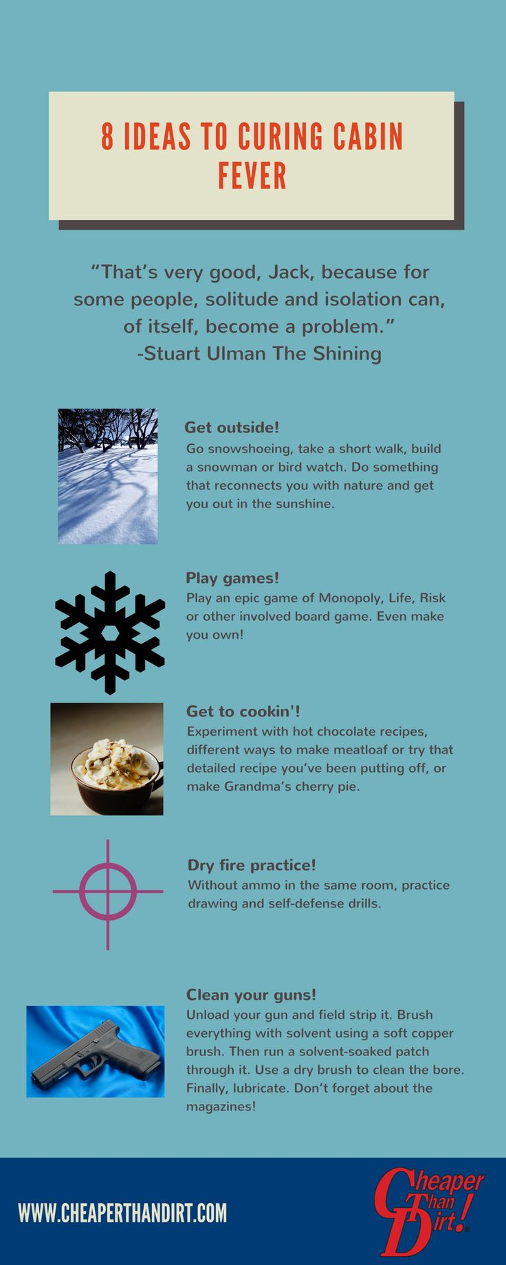 Are you stuck at home because of winter weather? Here are 11 ideas to help you cure cabin fever.  #winter #winterishere #winteriscoming #snow #winterstorm #snowpocalypse