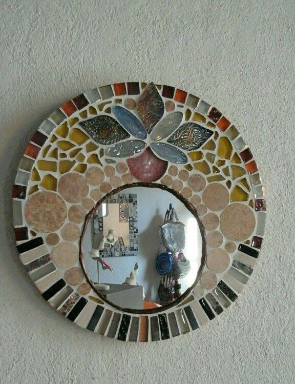 Espejo  redondo mosaico  30 cm.