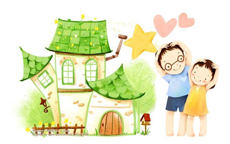 Illustration+Art   Lovely illustration art for children's Day 1680x1050 NO.23 Desktop ...