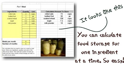 17 Best Ideas About Food Storage Calculator On Pinterest