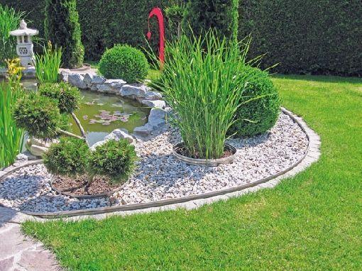 Gardenplaza Mit Rasenkanten aus Metall gelingt das professionelle Design –