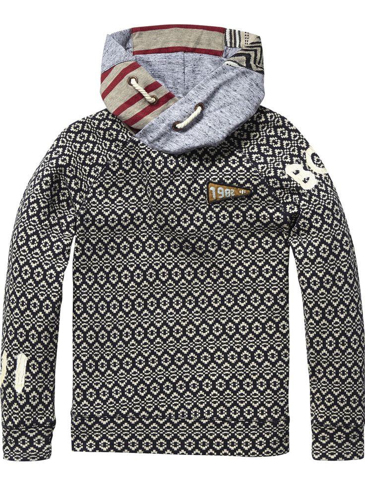 Mix & Match Hooded Sweater | sweat | Boys Clothing at Scotch & Soda