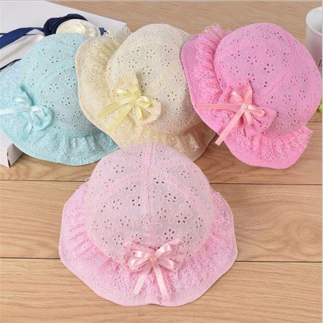 Baby Summer Caps Photography Props Bonnet Photo Props Hats Cute Baby Lace Hats