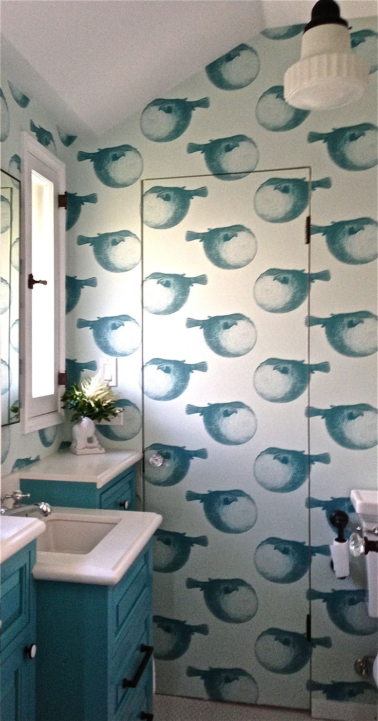 22 best wallpaper installations images on pinterest anonymous children s bathroom by laura divenere interiors mr blow by abnormals anonymous wallpaper