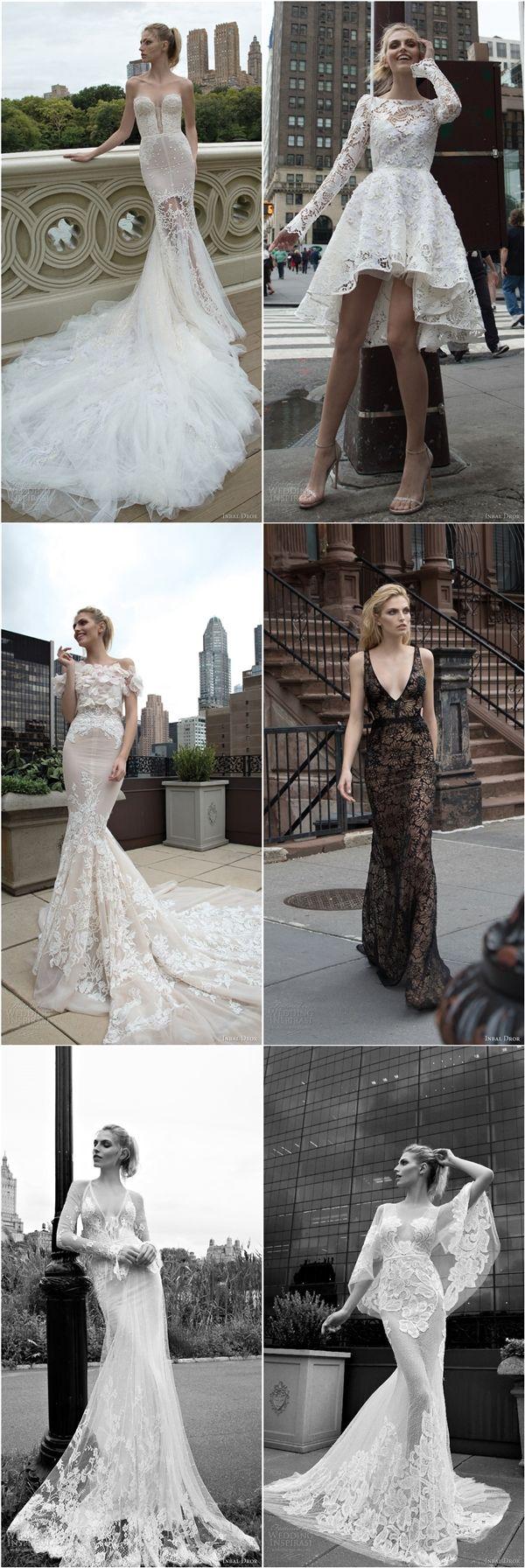 Inbal Dror Fall Wedding Dresses 2016 / http://www.deerpearlflowers.com/inbal-dror-fall-wedding-dresses-2016-new-york-colletion/2/