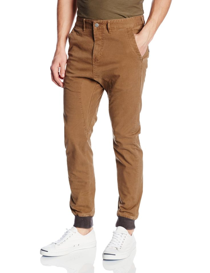 Zanerobe Men's Dynamo Chino Jogger Pant with Knit Cuff, Camel, 36