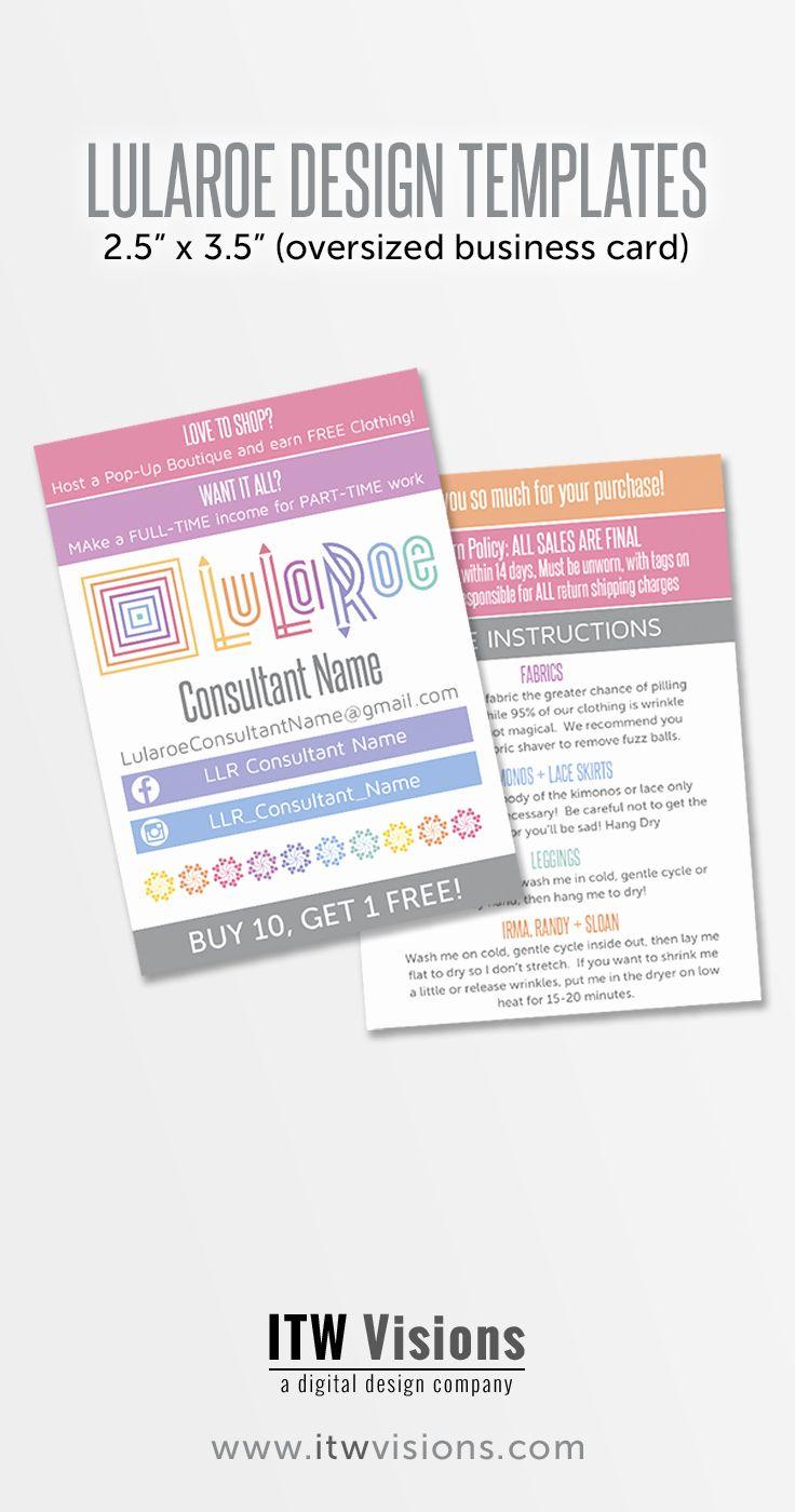 Lularoe Business Card Template Inspirational these Lularoe