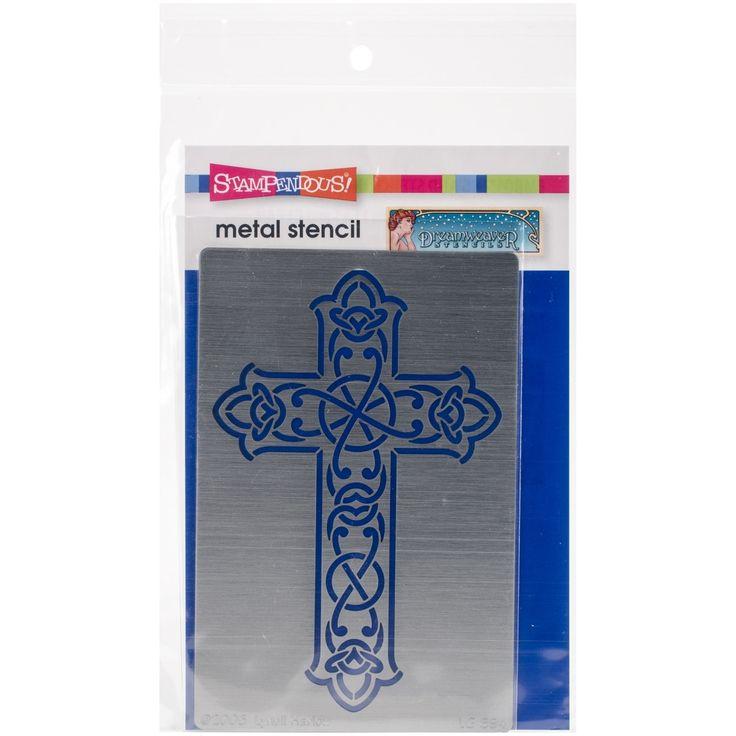 "STAMPENDOUS Dreamweaver Metal Stencil 4""X6.875""-Gothic Cross - gothic cross"