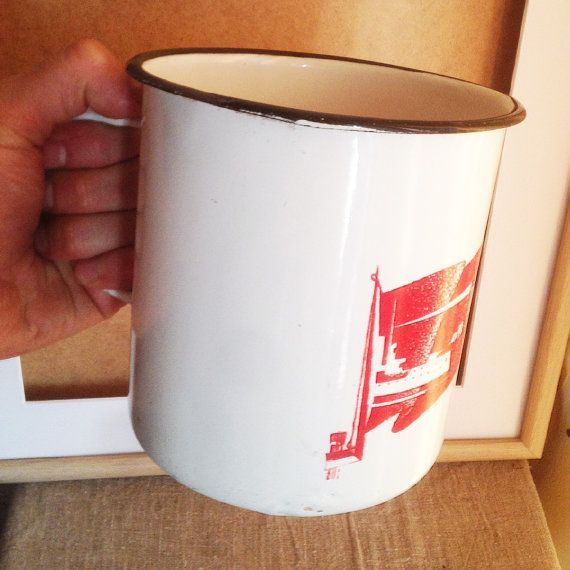 Huge Soviet Enamel Cup Born in 1977 39-th by SovietHardware