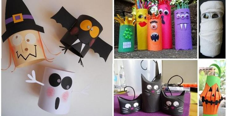 plus de 30 bricolages d 39 halloween faire avec des rouleaux de papier hygi nique halloween. Black Bedroom Furniture Sets. Home Design Ideas