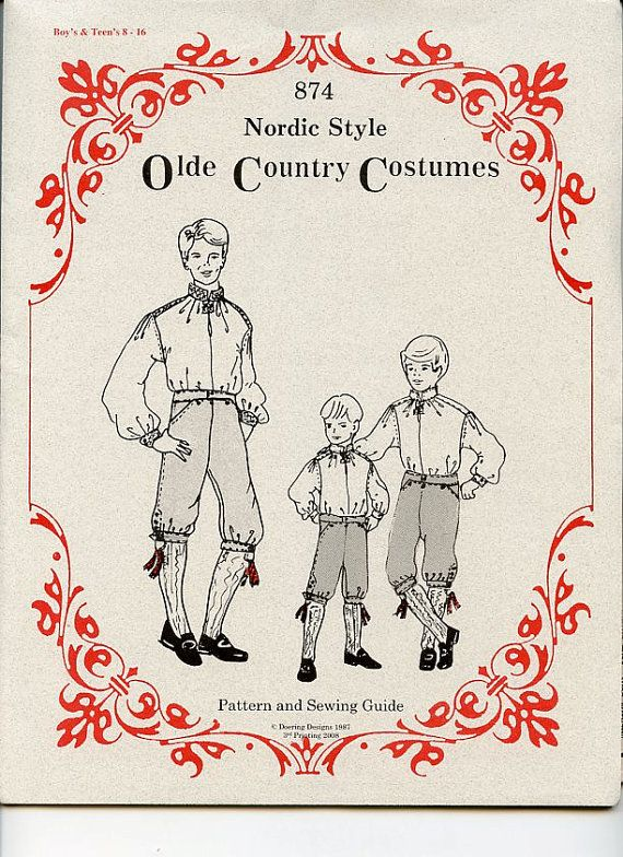 Scandinavian Nordic Style Olde Country Costume by GiftChaletAuburn