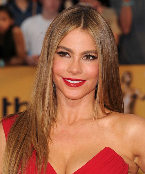 Sofia Vergara Long Straight Formal Hairstyle - Medium Brunette | TheHairStyler.com