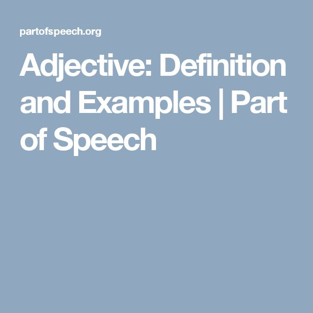 Adjective: Definition and Examples | Part of Speech