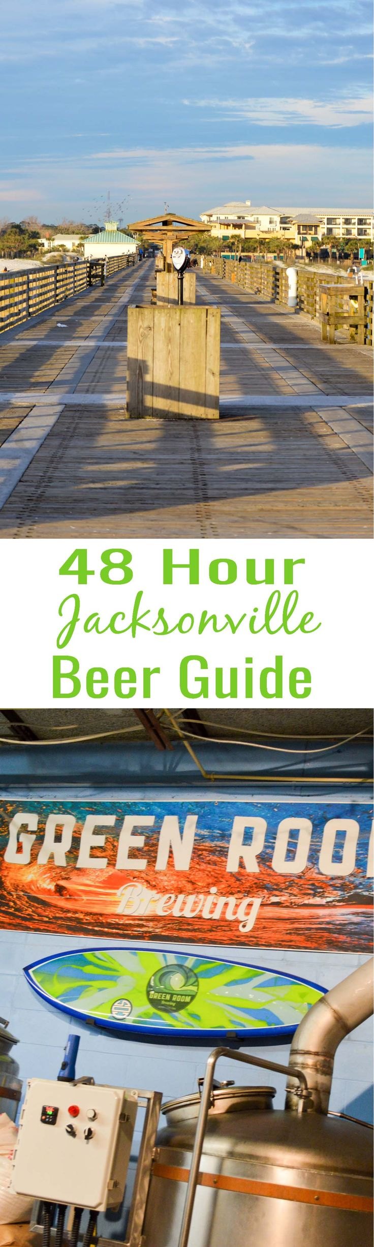 48 Hours in Jacksonville Beach: Enjoy a craft beer filled beach weekend in Jacksonville, Florida. My Jacksonville Brewery Tour highlights the best of the beach and craft beer scene!