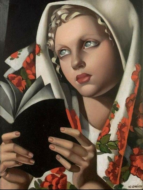 Women Reading - bookpatrol: Tamara Lempicka: The Polish Girl,...