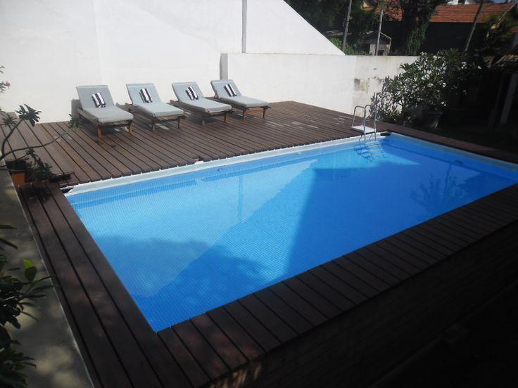 "Pooldeck on INTEX Ultraframe Swimming Pool 24'x12'x52"""