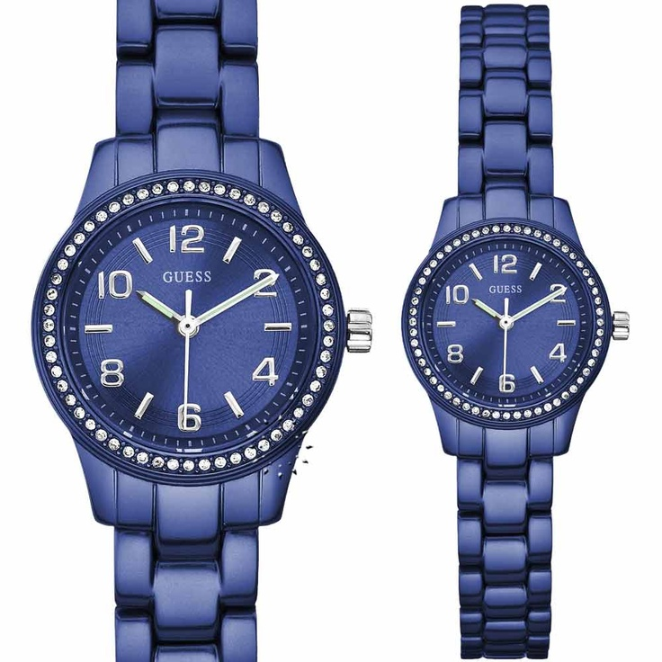 Guess Blue Ladies Aluminum Bracelet  Μοντέλο: W80074L2  Τιμή: 108€  http://www.oroloi.gr/product_info.php?products_id=26028